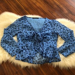 abercrombie cropped blouse